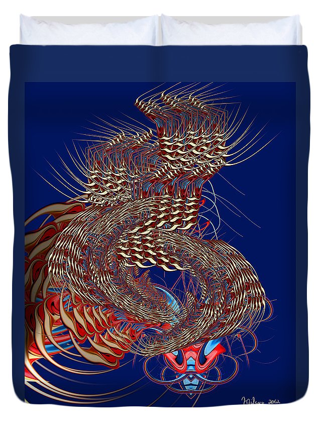 Colorful Duvet Cover featuring the digital art Lucid Dreaming by Mike Butler