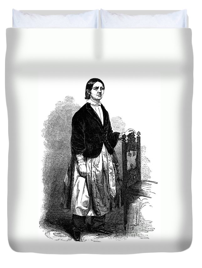1853 Duvet Cover featuring the photograph Lucy Stone (1818-1893) by Granger