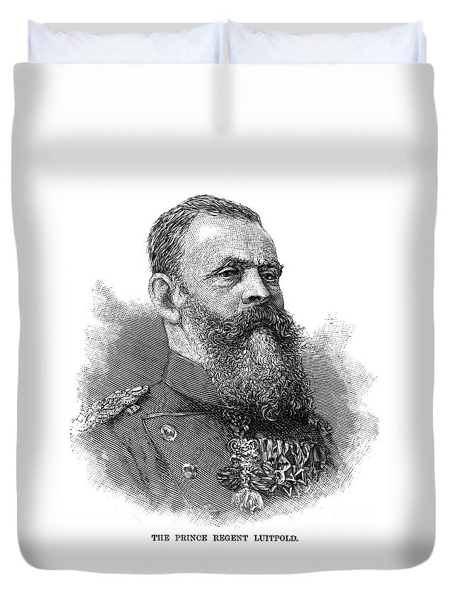1886 Duvet Cover featuring the photograph Luitpold (1821-1912) by Granger