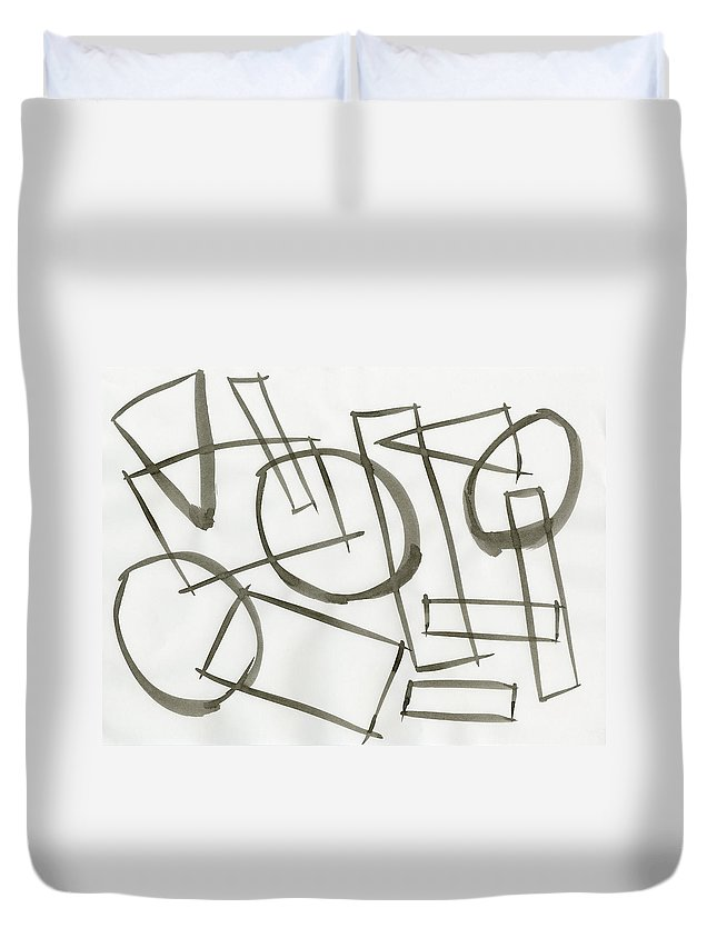Machine Model State Duvet Cover featuring the painting Machine Model State by Taylor Webb