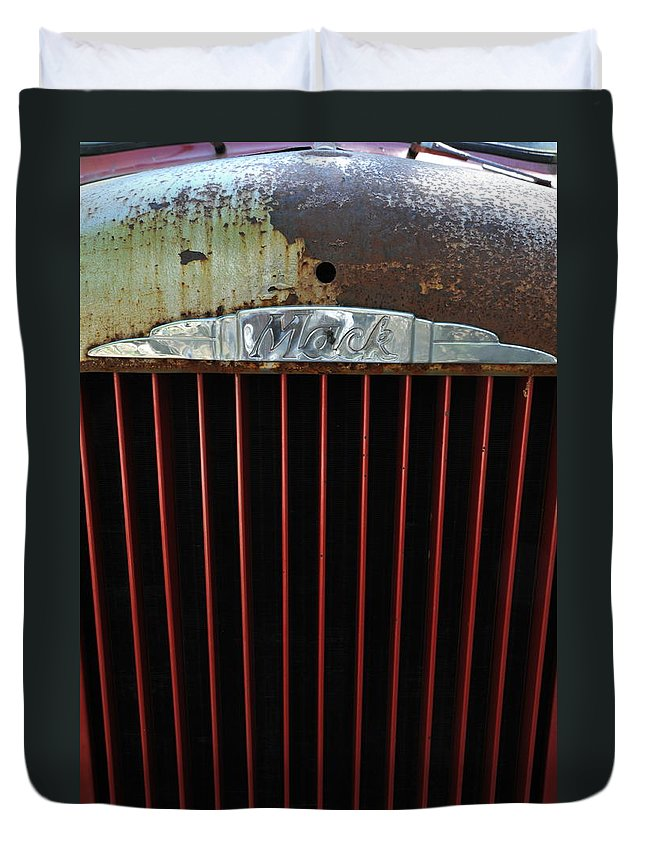 Mack Duvet Cover featuring the photograph Mack by Ron Weathers