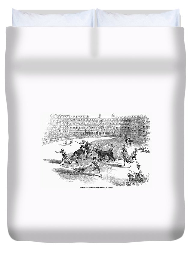 1846 Duvet Cover featuring the photograph Madrid: Bullfight, 1846 by Granger