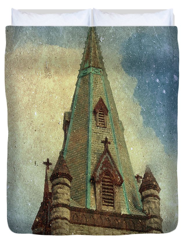 Church Duvet Cover featuring the photograph Magical Things Happen Here by Trish Tritz