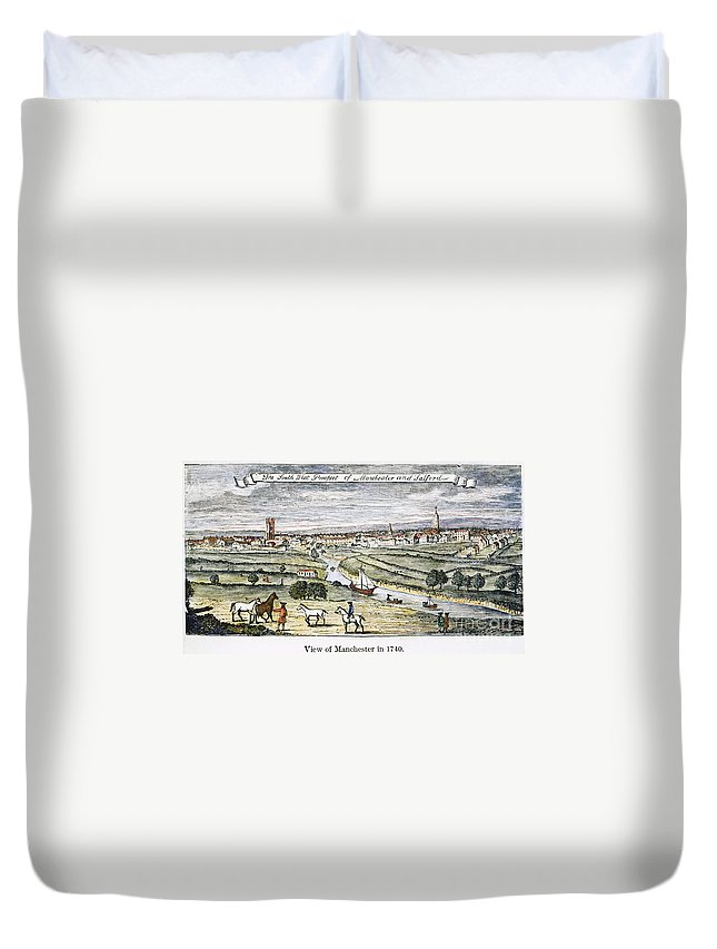 1740 Duvet Cover featuring the photograph Manchester, England, 1740 by Granger