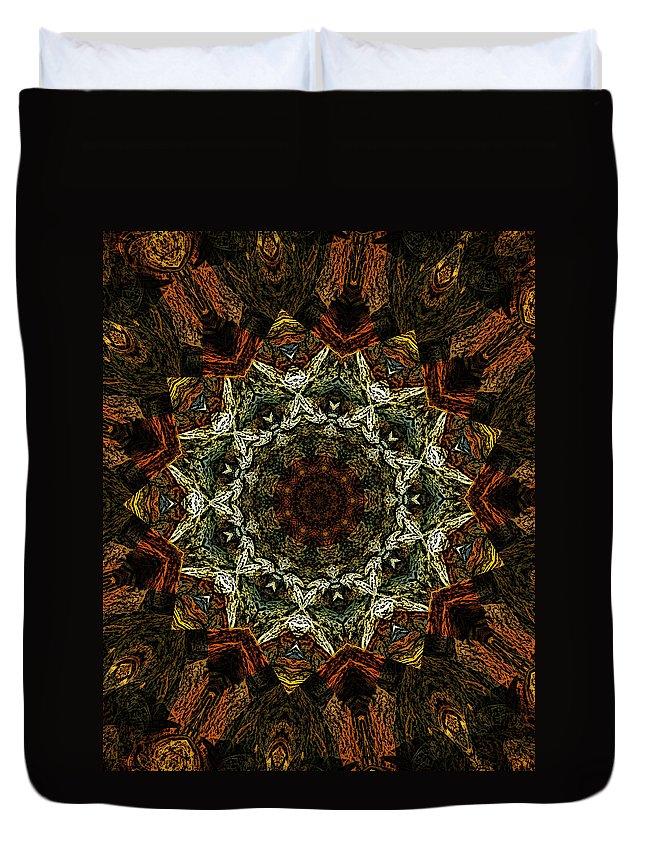 Mandala Duvet Cover featuring the digital art Mandala 111511 by David Lane