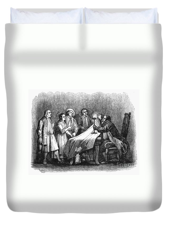 1840 Duvet Cover featuring the photograph Manzoni: I Promessi Sposi by Granger