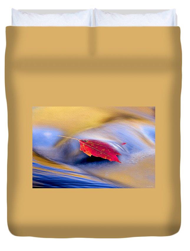Ron Jones Duvet Cover featuring the photograph Maple Stream by Ron Jones