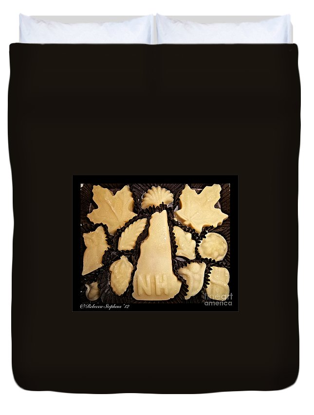 Maple Duvet Cover featuring the photograph Maple Sugar Candies by Rebecca Stephens