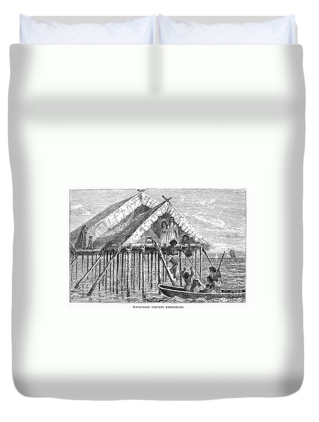 19th Century Duvet Cover featuring the photograph Maracaibo Dwelling by Granger