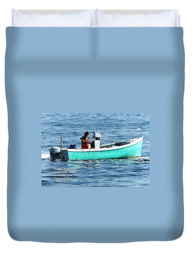 Mark Duvet Cover featuring the photograph Mark 1 V17 by Joe Faherty