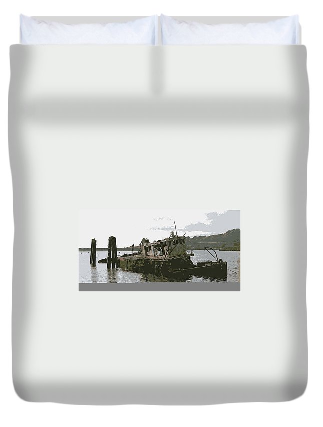 River Duvet Cover featuring the photograph Mary D. Hume by One Rude Dawg Orcutt