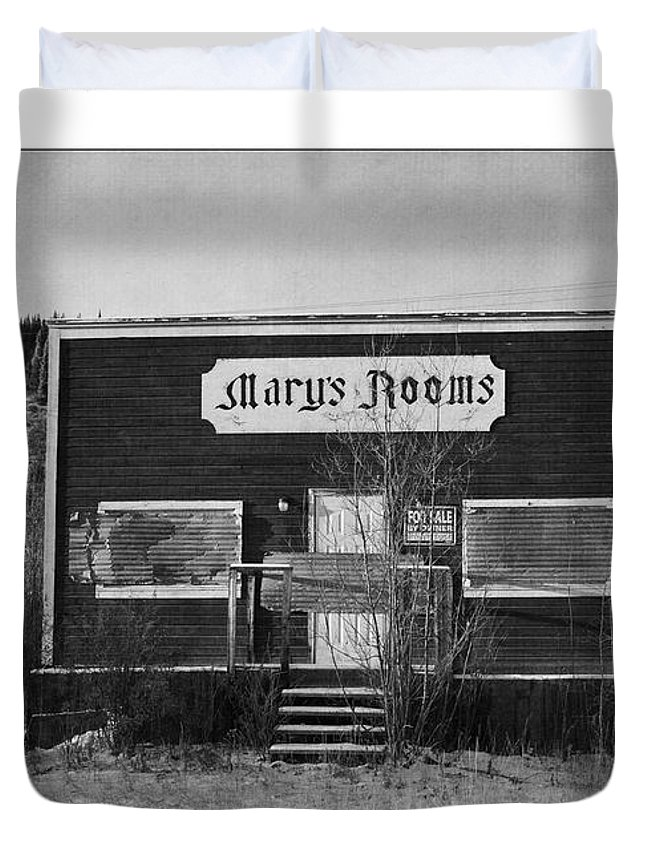 Old Duvet Cover featuring the photograph Mary's Rooms by Priska Wettstein