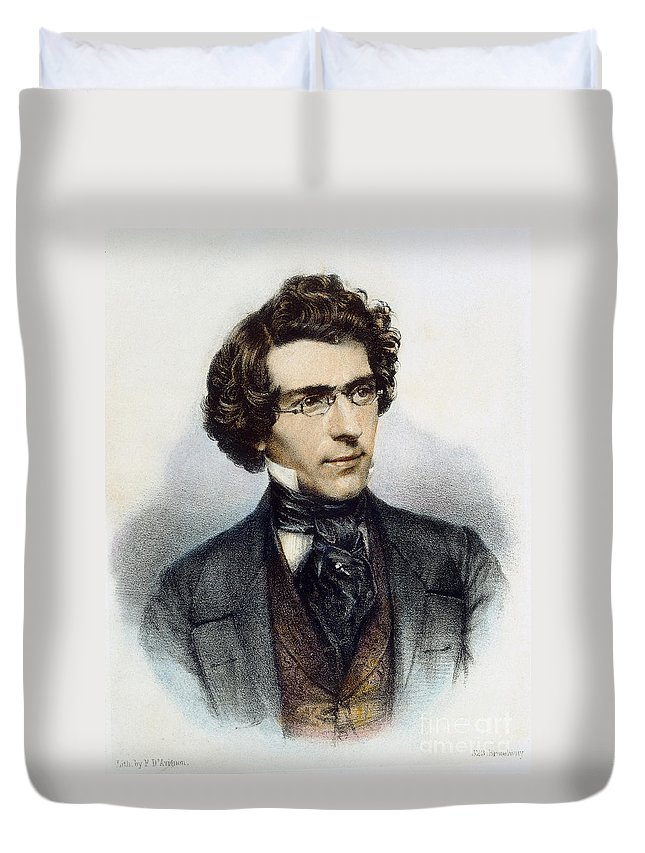 1850 Duvet Cover featuring the photograph Mathew Brady (1823?-1896) by Granger