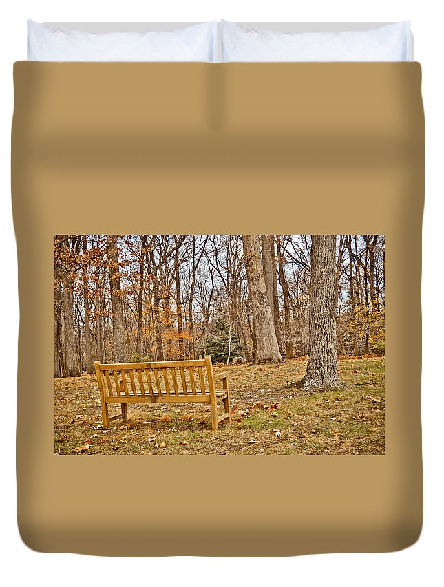 Meditate Duvet Cover featuring the photograph Meditation At Valley Forge by Trish Tritz