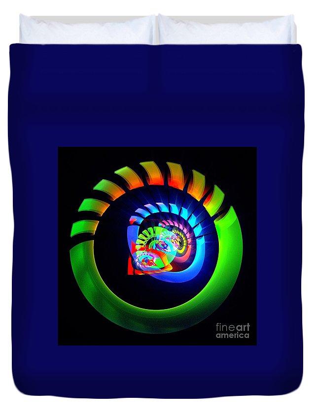 Meditation Duvet Cover featuring the digital art Meditation by Klara Acel