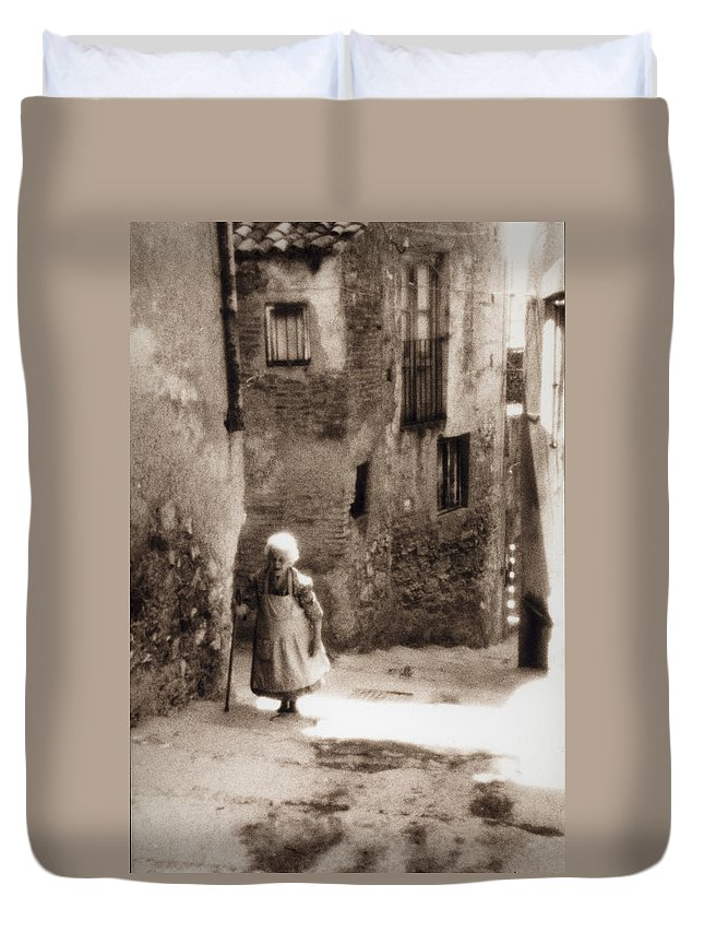 Sicily Duvet Cover featuring the photograph Memories From Motherland by Michele Mule
