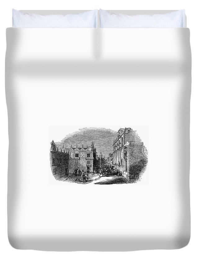 1845 Duvet Cover featuring the photograph Mexico City, 1845 by Granger