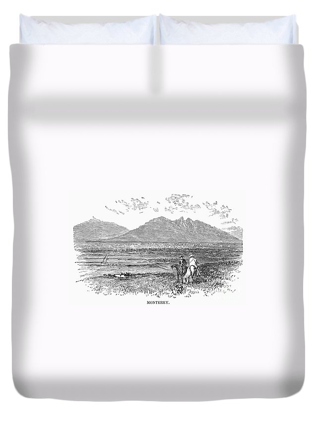 1846 Duvet Cover featuring the photograph Mexico: Monterrey, C1846 by Granger