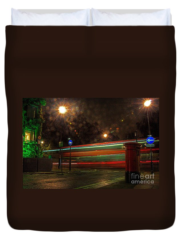 Mayfair Duvet Cover featuring the photograph Midnight In Mayfair by Rob Hawkins