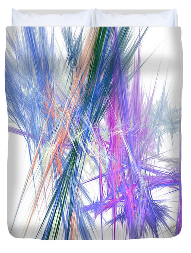 Abstract Duvet Cover featuring the digital art Mikado-b by RochVanh