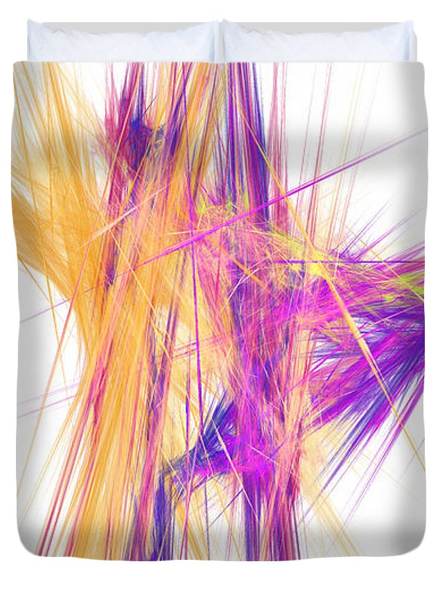 Abstract Duvet Cover featuring the digital art Mikado-o by RochVanh
