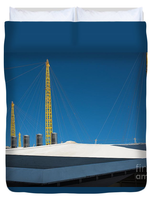 Arena Duvet Cover featuring the photograph Millennium Dome by Andrew Michael