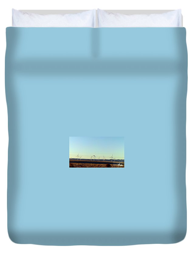 Modern Blinding Power A Duvet Cover featuring the photograph Modern Blinding Power B by Feile Case