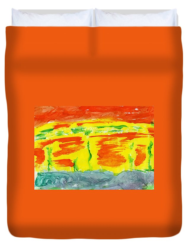 Molten River Duvet Cover featuring the painting Molten River by Taylor Webb