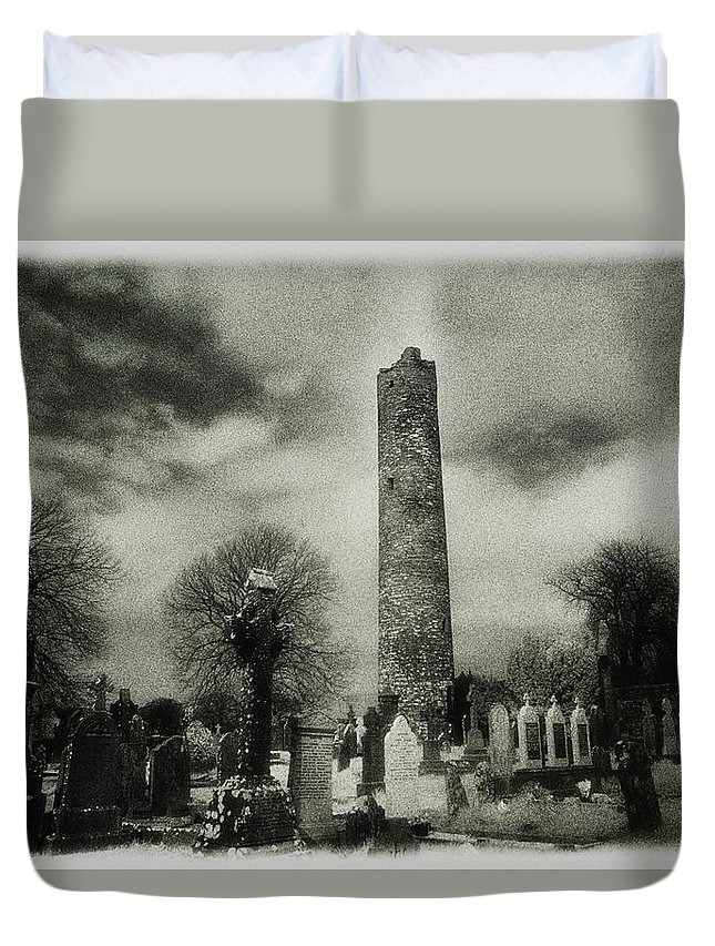 Outdoors Duvet Cover featuring the photograph Monasterboice, Co Louth, Ireland Round by Sici