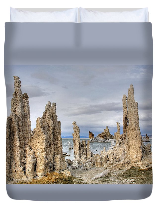 Mono Lake Duvet Cover featuring the photograph Mono Lake by Wes and Dotty Weber