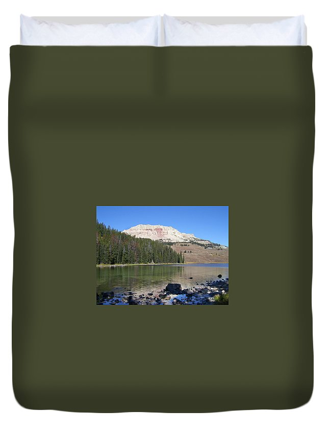 Montana Duvet Cover featuring the photograph Montana100 0883 by Michael Peychich