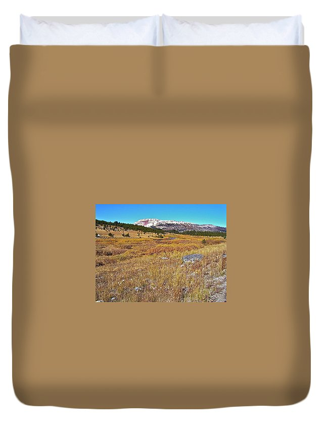 Montana Duvet Cover featuring the photograph Montana100 0885 by Michael Peychich
