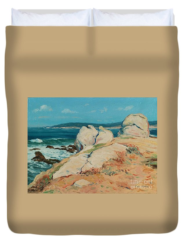 California Duvet Cover featuring the painting Monterey Coast by Guy Rose
