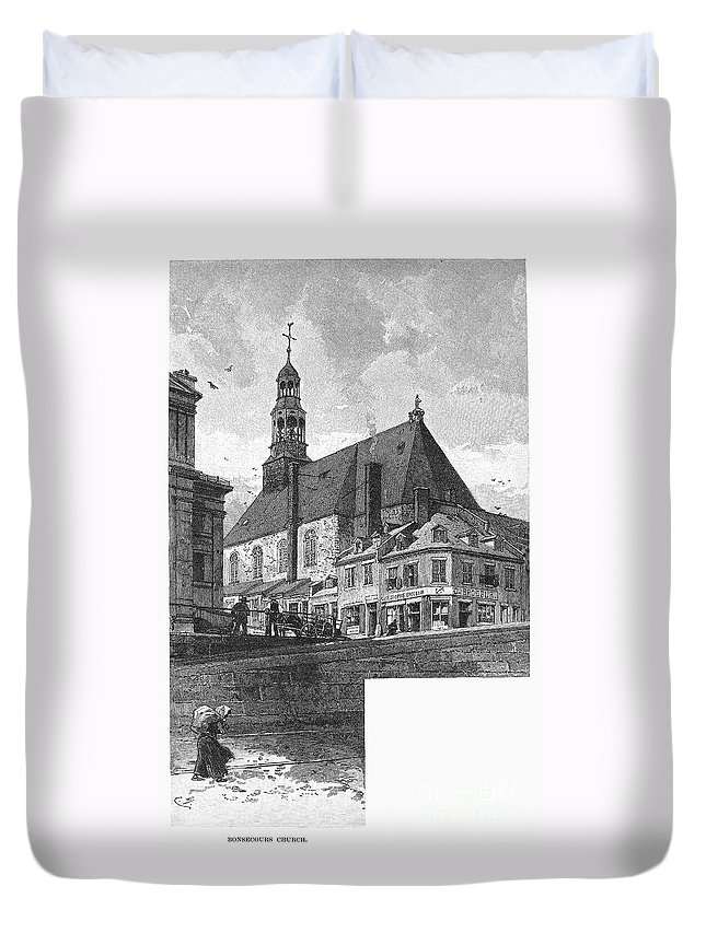1889 Duvet Cover featuring the photograph Montreal: Bonsecours by Granger