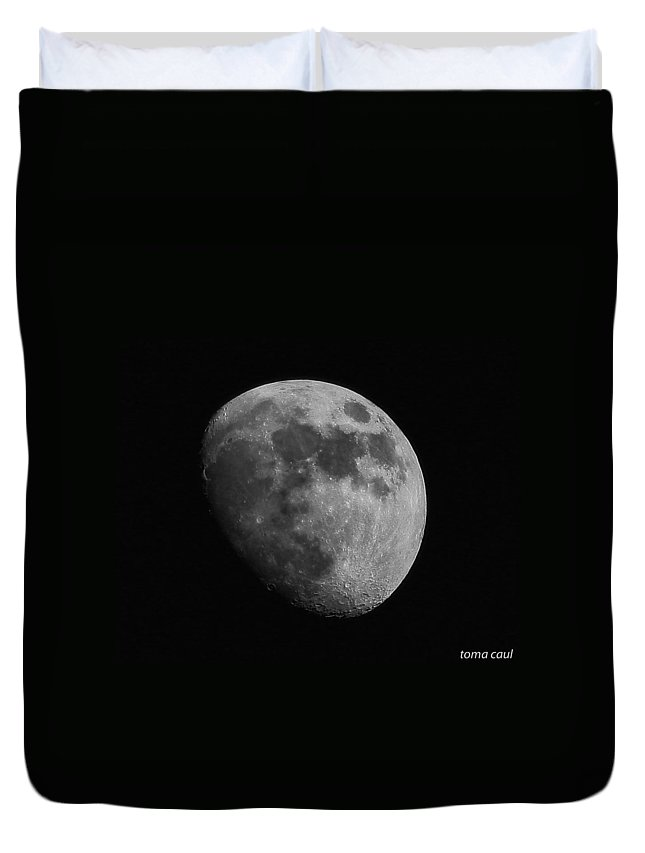 Moon Duvet Cover featuring the photograph Mooned by Toma Caul
