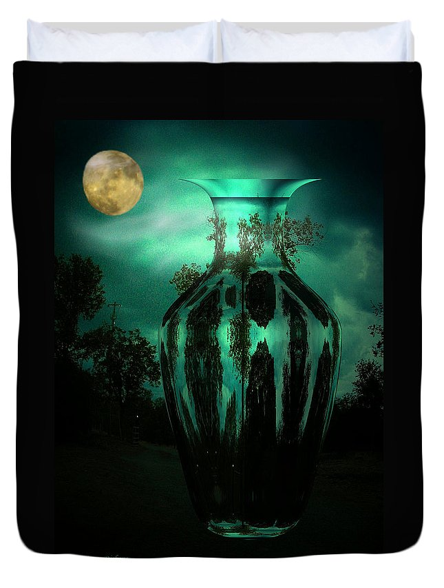 Moon Duvet Cover featuring the photograph Moonglow by Joyce Dickens
