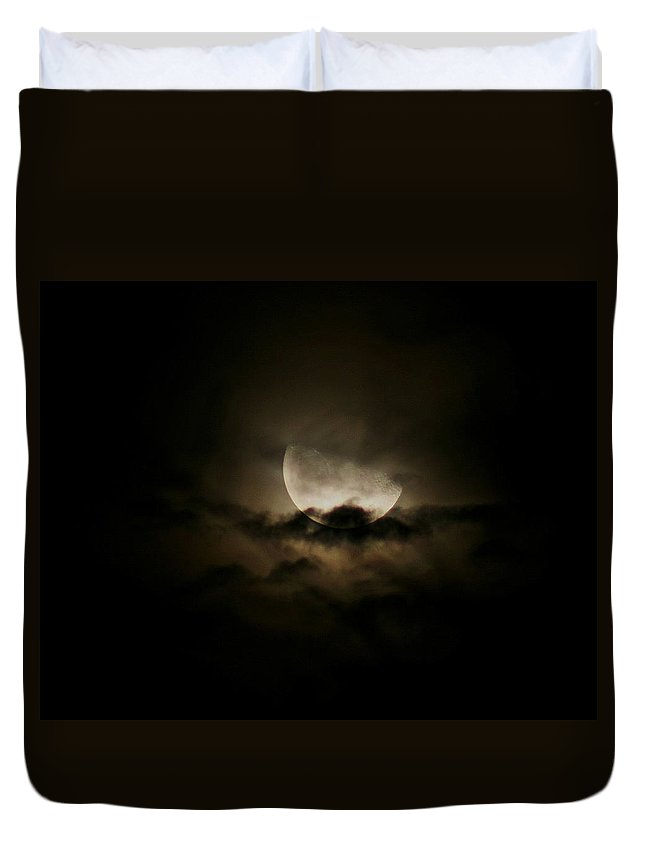 Landscape Duvet Cover featuring the photograph Moonlight by Karen Harrison