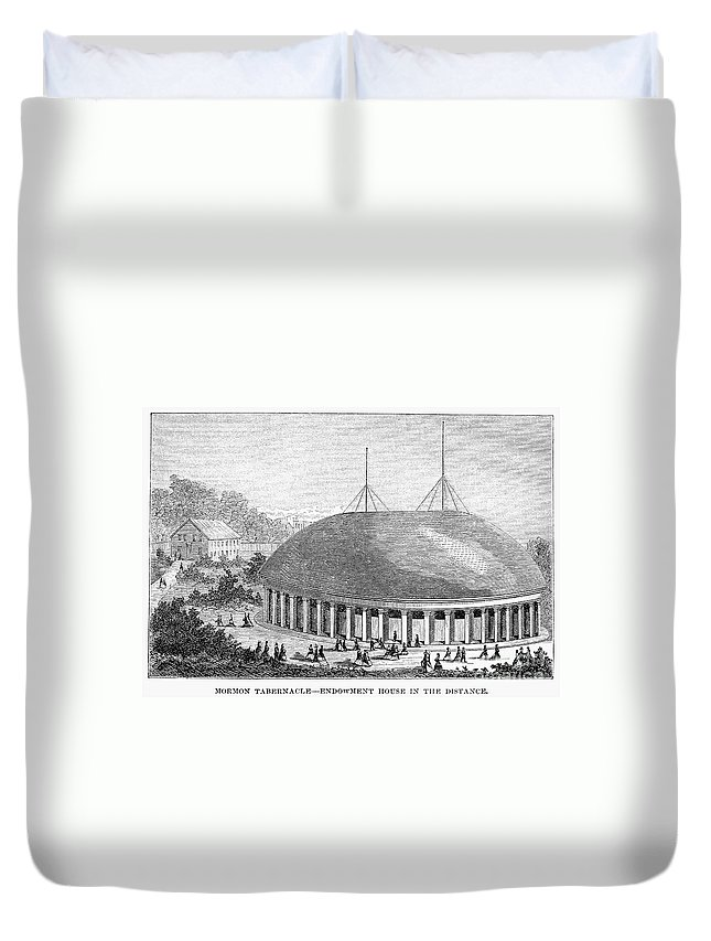 1870 Duvet Cover featuring the photograph Mormon Tabernacle, 1870 by Granger