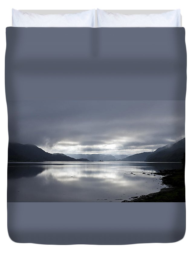 Argyll And Bute Duvet Cover featuring the photograph Morning Light On The Loch by Gary Eason