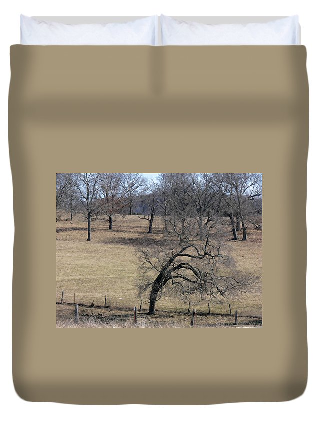 Tn Duvet Cover featuring the photograph Morning Stretch by Ericamaxine Price