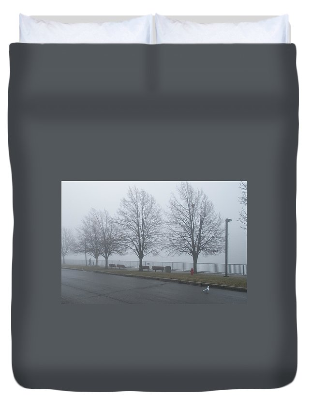 Forest Duvet Cover featuring the photograph Morning Stroll by Guy Whiteley