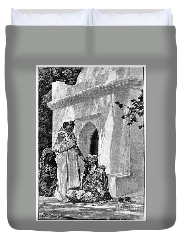 1893 Duvet Cover featuring the photograph Morocco: Fortune Teller by Granger