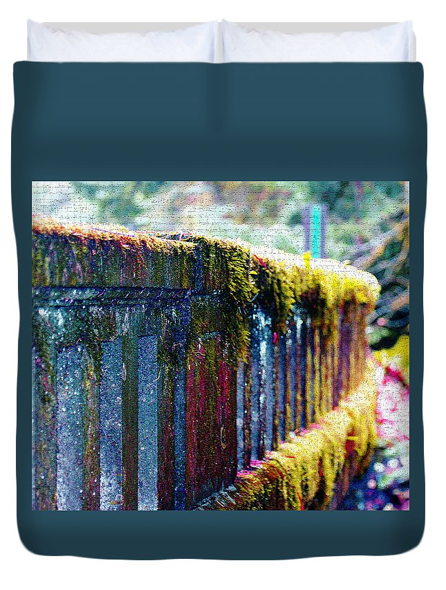 Bridges Duvet Cover featuring the photograph Moss Covered Bridge by Marie Jamieson