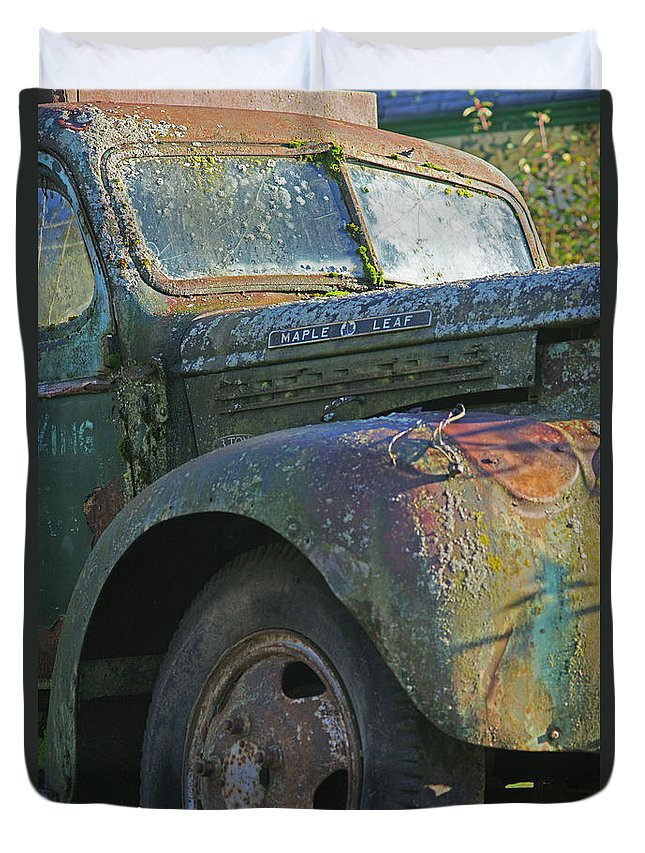Cars Duvet Cover featuring the photograph Moss Covered Truck by Randy Harris