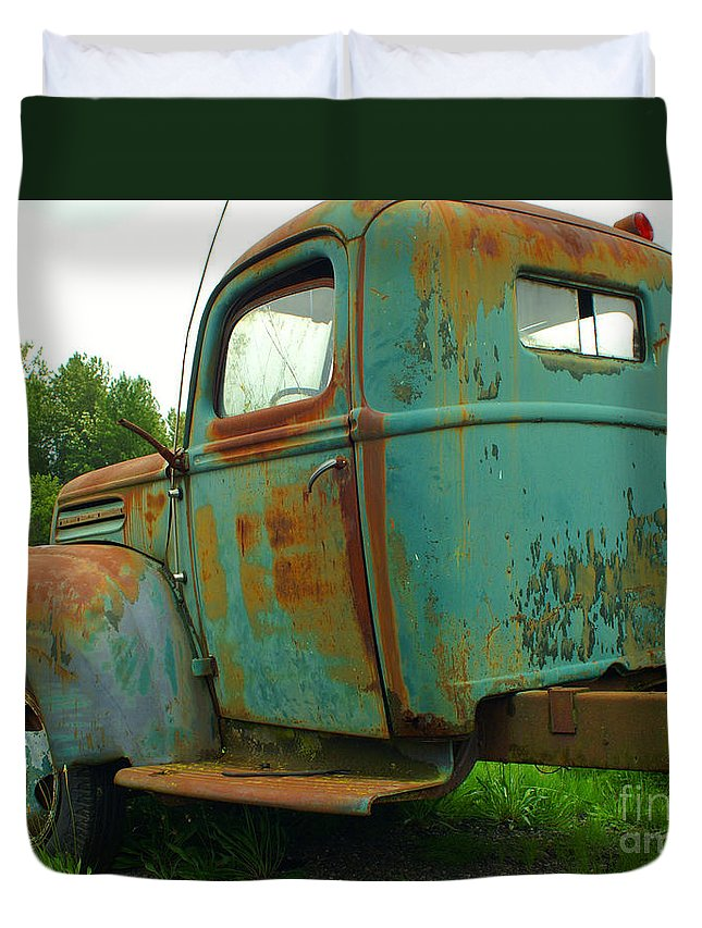 Cars Duvet Cover featuring the photograph Mother Nature's Paint Job by Randy Harris