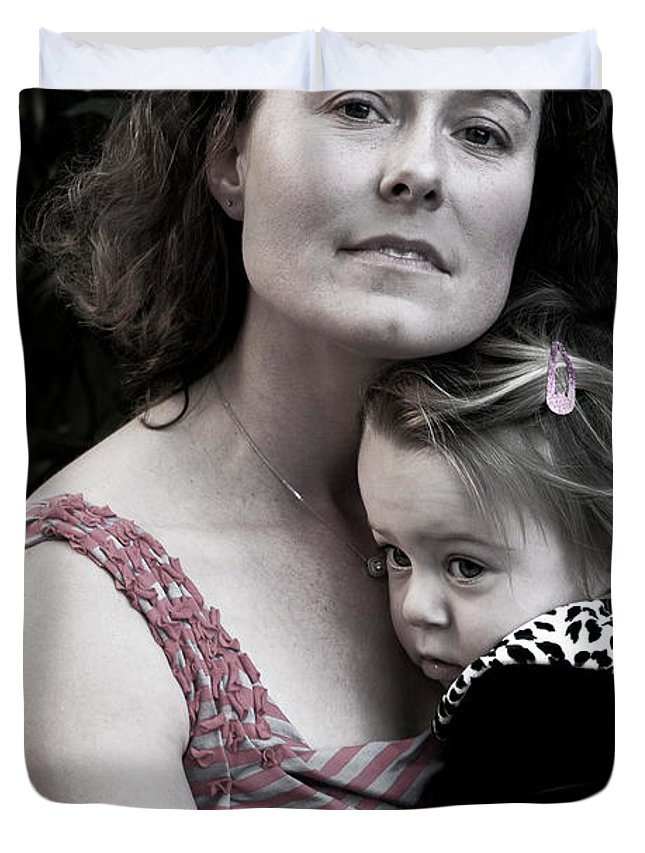 Mother Duvet Cover featuring the photograph Motherhood by Lorraine Devon Wilke