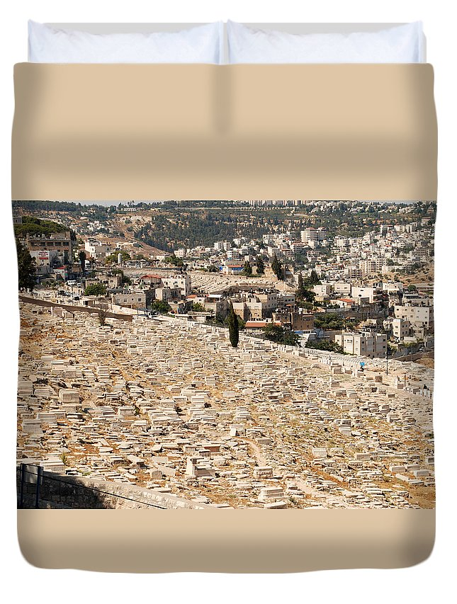 Mount Of Olives Duvet Cover featuring the digital art Mount Of Olives by Eva Kaufman