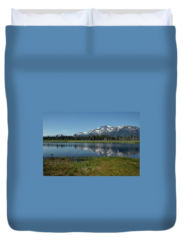 Usa Duvet Cover featuring the photograph Mount Tallac View Of The Cross by LeeAnn McLaneGoetz McLaneGoetzStudioLLCcom