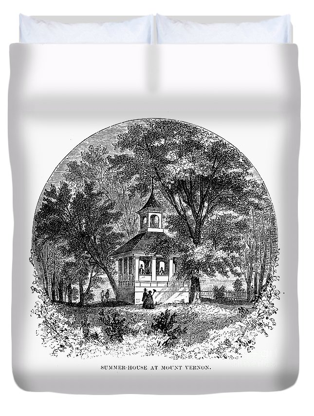 1883 Duvet Cover featuring the photograph Mount Vernon, 1883 by Granger