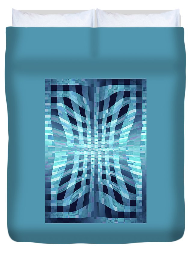 Moveonart! Global Gathering. -- Digital Abstract Art By Jacob Kane -- Omnetra Duvet Cover featuring the digital art Moveonart Ancienttechnology by Jacob Kanduch
